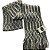 Cachecol lã cinza e branco com franja (0,20 x 2,00) - Imagem 1