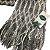 Cachecol lã cinza e branco com franja (0,20 x 2,00) - Imagem 3