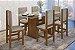 Conjunto Mesa de jantar com tampo de Vidro e 6 Cadeiras - HB123c - Imagem 1