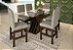 Conjunto Mesa de Jantar com Tampo de Vidro e 6 Cadeiras cor Tabaco - HB114T - Imagem 2