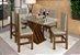 Conjunto Mesa de Jantar com Tampo de Vidro e 6 Cadeiras cor Canela - HB114C - Imagem 1