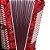Acordeon Eagle EGA 07120 PRD 120 Baixos Vermelho Pearl Red - Imagem 6
