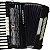 Acordeon Cadenza CD80/37 / 80 Baixos / Preto / Acompanha case - Imagem 3