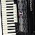 Acordeon Cadenza CD80/37 / 80 Baixos / Preto / Acompanha case - Imagem 4