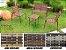 Fita de junco sintético de 10 mm rolo com 500 metros cor Chocolate - Imagem 4