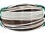 Fita meia cana 5mm de junco Vime  Rattan sintético para cadeiras e artesanato 500 metros Cappuccino - Imagem 1