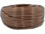 Fita meia cana 5mm de junco Vime  Rattan sintético para cadeiras e artesanato 500 metros Chocolate - Imagem 1