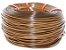 Fita meia cana 5mm de junco Vime  Rattan sintético para cadeiras e artesanato 500 metros Mel - Imagem 1