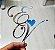 Topo de Bolo Iniciais Personalizado Acrílico Espelhado - Imagem 1