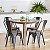 Cadeira Fixa Design Brave Aço Assento Madeira Cadeira Brasil - Imagem 1