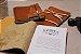 Caderno artesanal de couro caramelo formato A6 Bodoque - Imagem 2