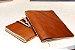 Caderno artesanal de couro caramelo formato A6 Bodoque - Imagem 4