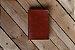 Caderno artesanal de couro marrom avermelhado formato A6 Bodoque - Imagem 2