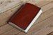 Caderno artesanal de couro marrom avermelhado formato A6 Bodoque - Imagem 6