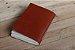 Caderno artesanal de couro marrom avermelhado formato A6 Bodoque - Imagem 7