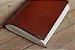 Caderno artesanal de couro marrom avermelhado formato A6 Bodoque - Imagem 1