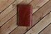 Caderno artesanal de couro marrom avermelhado formato A6 Bodoque - Imagem 3
