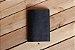 Caderno artesanal de couro preto com costura vermelha formato A6 Bodoque - Imagem 4