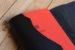 Caderno artesanal de couro preto com costura vermelha formato A6 Bodoque - Imagem 6
