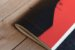 Caderno artesanal de couro preto com costura vermelha formato A6 Bodoque - Imagem 5