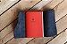 Caderno artesanal de couro preto com costura vermelha formato A6 Bodoque - Imagem 3