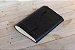 Caderno artesanal de couro preto com costura vermelha formato A6 Bodoque - Imagem 1