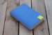 Caderneta de bolso de luxo em couro sintético azul clara - POLIANA LOPES - Imagem 1