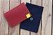 Caderneta de bolso de luxo em couro sintético cereja - POLIANA LOPES - Imagem 1