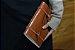 Caderno artesanal de couro caramelo formato A5 Bodoque - Imagem 2