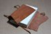Caderno artesanal de couro caramelo formato A5 Bodoque - Imagem 3