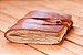Caderno de couro caramelo envelhecida formato A6 Bodoque - Imagem 3