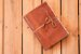 Caderno de couro caramelo envelhecida formato A6 Bodoque - Imagem 1