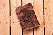 """Caderneta de couro marrom """"surrado"""" com miolo envelhecido Bodoque - Imagem 2"""