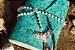 Coleção Sereias #4 caderno artesanal em couro formato A6 Bodoque - Imagem 1