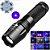 Lanterna X900 Led Cree Luz Negra Uv Para Caça de Escorpião Nota Falsa - Imagem 1