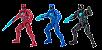 Power Rangers O Filme - Pack Com 3 Bonecos - Imagem 1