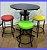Conjunto Mesa Bistrô Baixa com 4 Banquetas Sem Encosto - Imagem 6