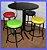 Conjunto Mesa Bistrô Baixa com 4 Banquetas Sem Encosto - Imagem 4