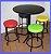 Conjunto Mesa Bistrô Baixa com 4 Banquetas Sem Encosto - Imagem 2