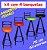 Banqueta Giratória Alta Assento Fofão 4 unidades - Imagem 8