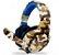 Headset Gamer P3 Usb Px-1 Tecdrive - Recruta Camuflado Azul - Imagem 1