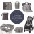 Super Combo Grey Feather - Cores do Inverno - Duo Signature + Wet Dry + Double Bottle + Cool Touch Stroller + Central Park + Cart Cover + Trocador - Imagem 1