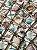 Tecido Jacquard náutico conchas bege - Imagem 1