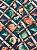 Tecido Jacquard náutico conchas azul - Imagem 1