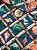 Tecido Jacquard náutico conchas azul - Imagem 4