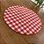 Sousplat Gorgurinho xadrez vermelho branco - Imagem 2
