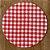 Sousplat Gorgurinho xadrez vermelho branco - Imagem 1