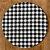 Sousplat Gorgurinho xadrez preto branco - Imagem 1