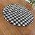 Sousplat Gorgurinho xadrez preto branco - Imagem 2
