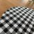 Sousplat Gorgurinho xadrez preto branco - Imagem 3